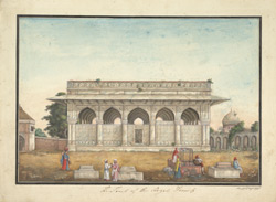 The Chaunsath Khambe (Pavilion of Sixty-four pillars) containing the tomb of Atga Khan.